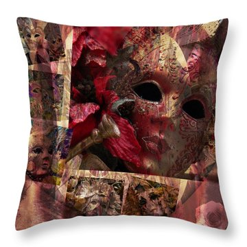 Modern Masks Throw Pillow