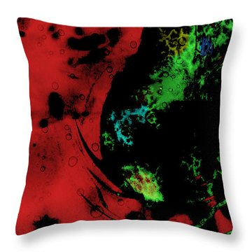 Throw Pillow featuring the mixed media Modern Squid by Ally  White