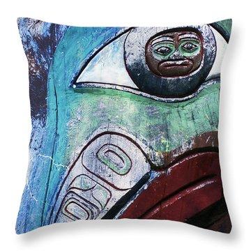 Modern Totem Frog Throw Pillow