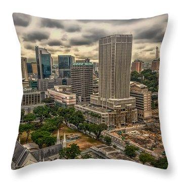 Modern Vs Ancient Throw Pillow