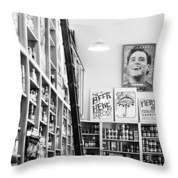 Modica Market - Black And White Throw Pillow by Shelby  Young