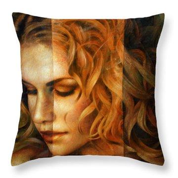 modified version of Portrait Throw Pillow by Arthur Braginsky
