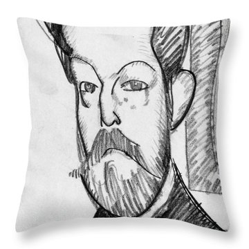 Modigliani - Paul Alexander Throw Pillow by Granger