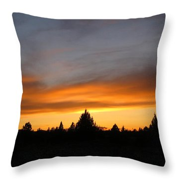 Modoc Sunset Throw Pillow