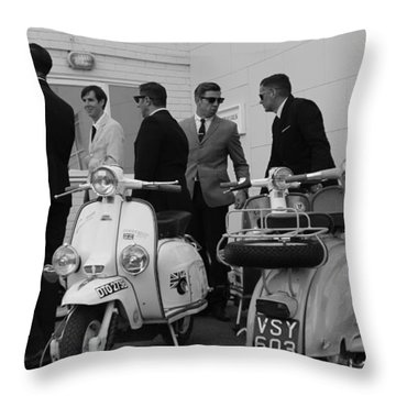 Mods And Suits Throw Pillow