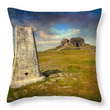 Moel Famau Throw Pillow by Adrian Evans