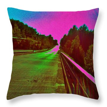 Throw Pillow featuring the photograph Moffit Bridge And Maple Ridge Rd. by Daniel Thompson