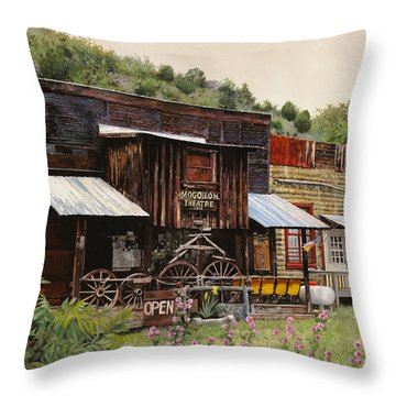 Mogollon-theatre-new Mexico  Throw Pillow by Guido Borelli