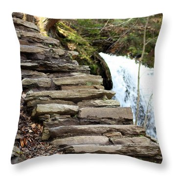 Mohawk Falls Steps Throw Pillow