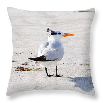 Mohawk Man Throw Pillow by Margie Amberge