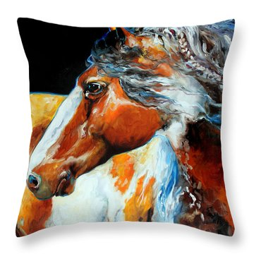 Mohican The Indian War Pony Throw Pillow