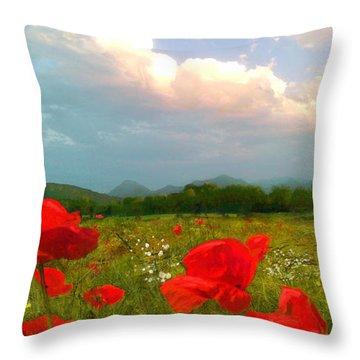 Mohnblumen  Throw Pillow