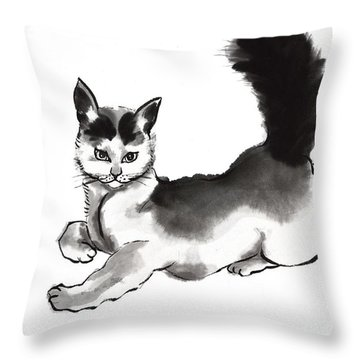 Moi? Throw Pillow