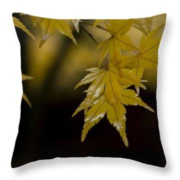 Moist Yellow Throw Pillow