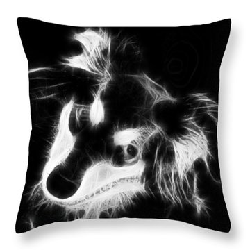 Moja - Black And White Throw Pillow by Marlene Watson