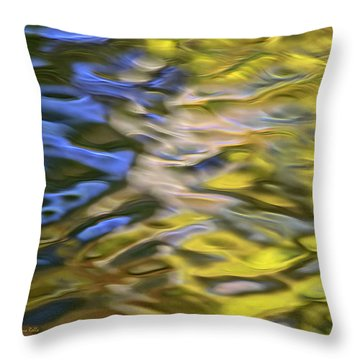Mojave Gold Mosaic Abstract Art Throw Pillow by Christina Rollo