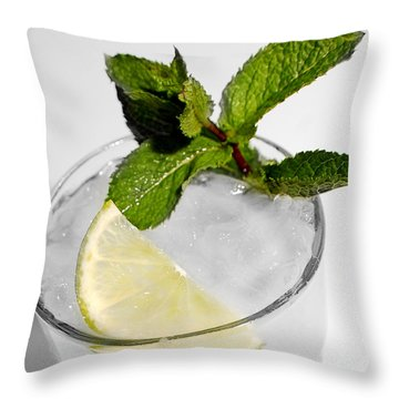 Mojito Detail Throw Pillow by Gina Dsgn