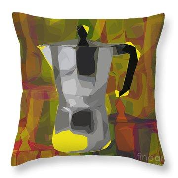 Moka Pot Throw Pillow by Jean luc Comperat