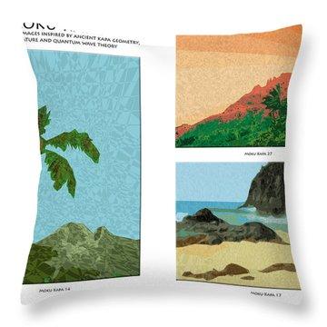 Moku Kapa Poster Throw Pillow by Kenneth Grzesik