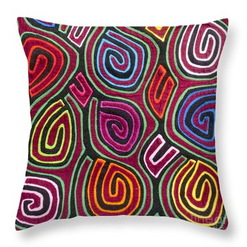 Mola Art Throw Pillow