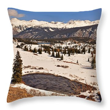 Molas Pass Winter Throw Pillow