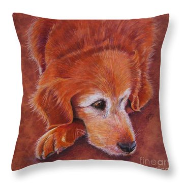 Mollie Throw Pillow by Marilyn Smith