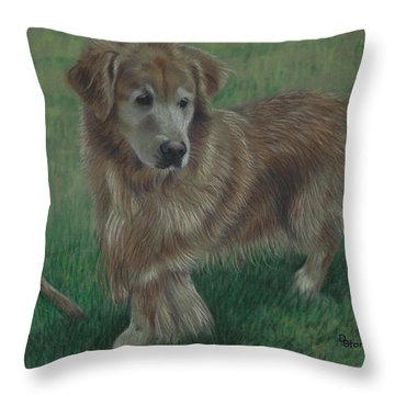 Molly And Her Stick Throw Pillow