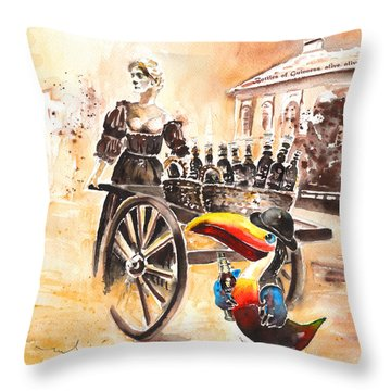 Molly Malone Throw Pillow by Miki De Goodaboom