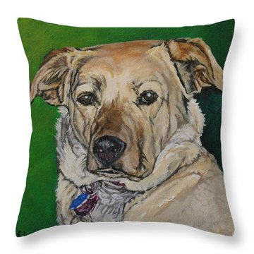 Molly Throw Pillow by Wendy Shoults