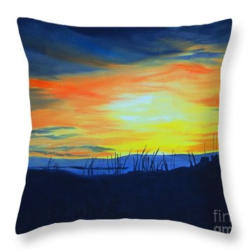 Throw Pillow featuring the painting Molly's Folly by Stuart Engel