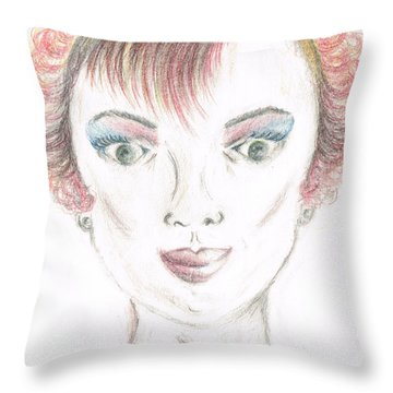 Mollys Makeover/ Pink Day Throw Pillow