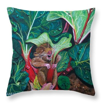 Throw Pillow featuring the painting Molly's Umbrella  by Sharon Duguay