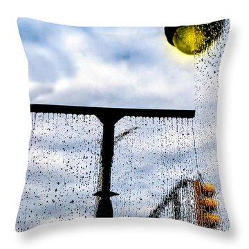 Molly's Window Throw Pillow by Bob Orsillo