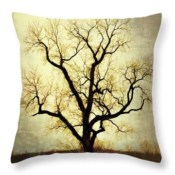 Molted Tree Throw Pillow by Marty Koch