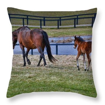 Mom Leading The Way Throw Pillow
