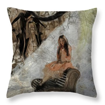 Throw Pillow featuring the digital art Moment by Galen Valle