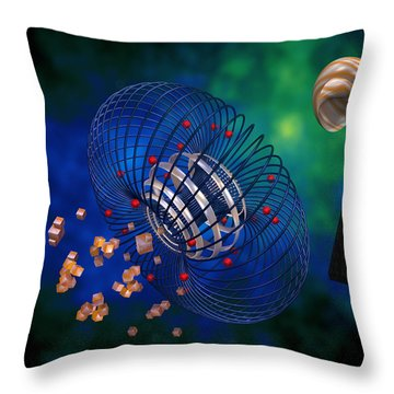 Throw Pillow featuring the digital art Moment Of Becoming by Manny Lorenzo