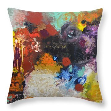 Moment Of Connection Throw Pillow by Sally Trace