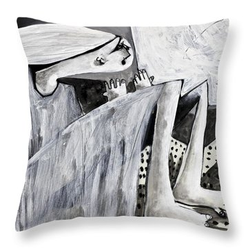 Momentis  The Storm Revisited Throw Pillow