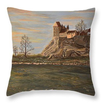 Moments Throw Pillow by Felicia Tica