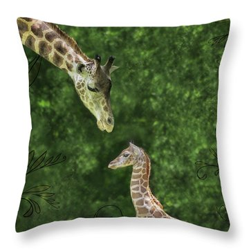 Momma Loves Me Throw Pillow