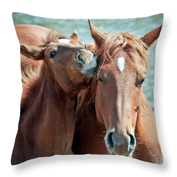 Mommy And Me Throw Pillow by Athena Mckinzie