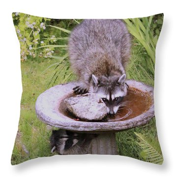Mommy Can You See Me? Throw Pillow by Kym Backland