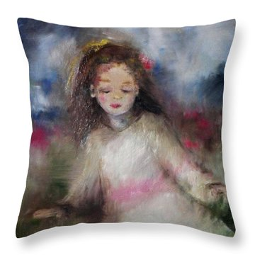 Mommy's Little Girl Throw Pillow