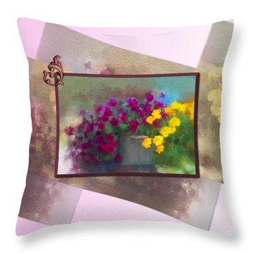 Moms Garden Art Throw Pillow