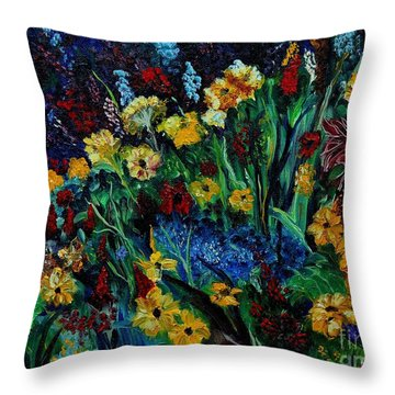 Moms Garden II Throw Pillow