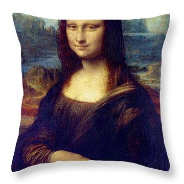 Mona Lisa Throw Pillow by Karon Melillo DeVega