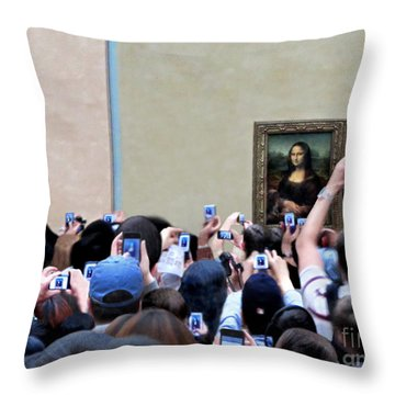 Mona Mobbed Throw Pillow by Jennie Breeze