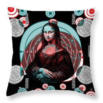 Mona Tv Test Pattern Throw Pillow