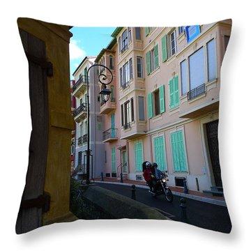 Monaco Alley Throw Pillow